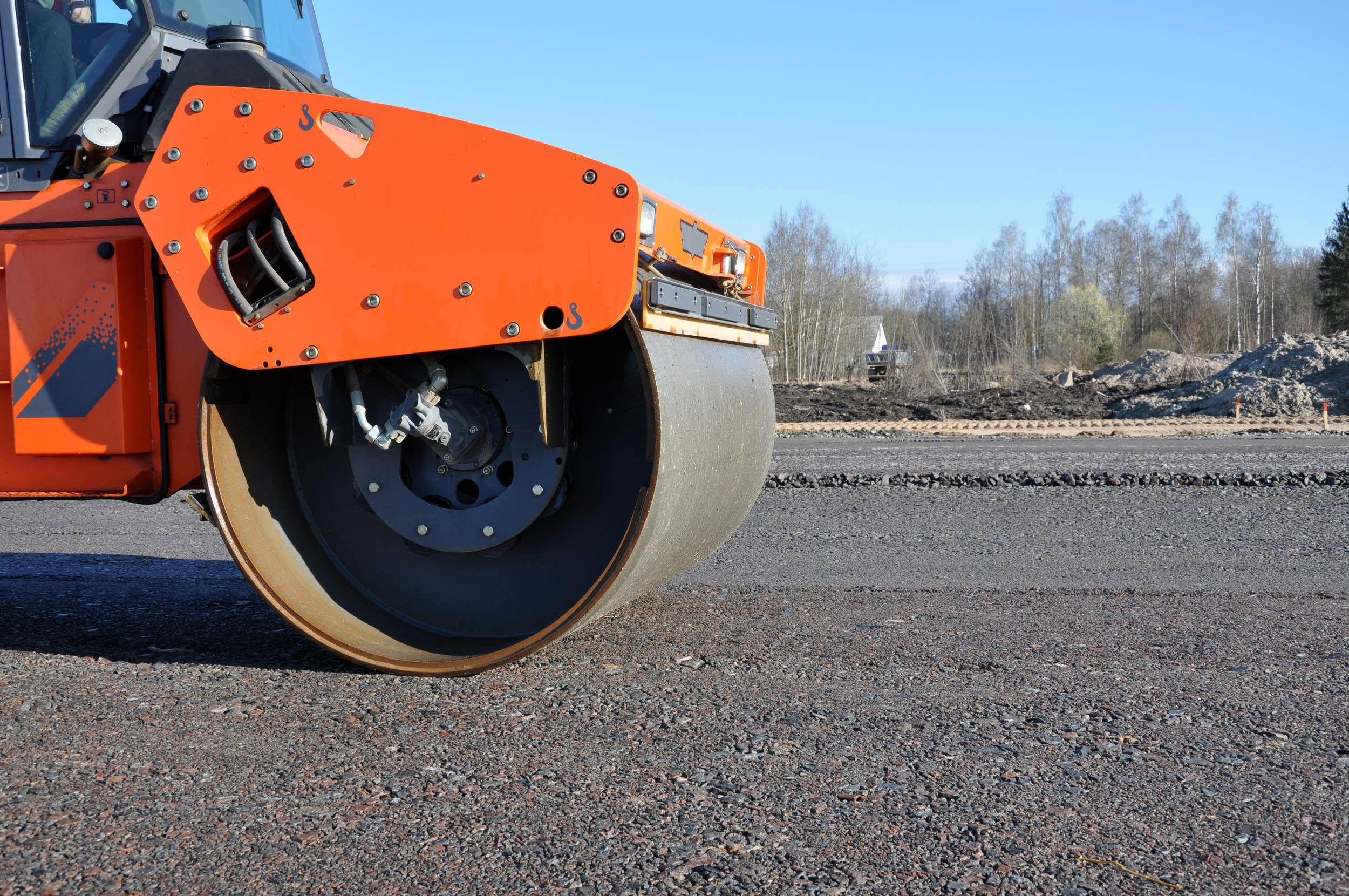 Part of tandem roller